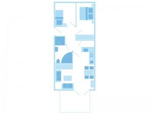 max. 4 Personen / 1 Wohn- und 2 Schlafzimmer / Dusche / WC