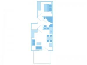 max. 2 Personen / 1 Wohn- und 1 Schlafzimmer / Dusche / WC