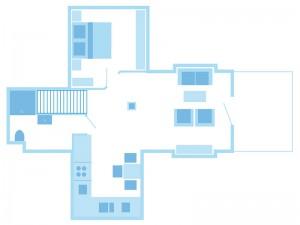 max. 2 Erwachsene & 1 Kind / 1 Wohnzimmer / 1 Schlafzimmer / Dusche / WC